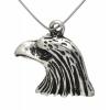 Pendant Eagle Head Small Antique Silver